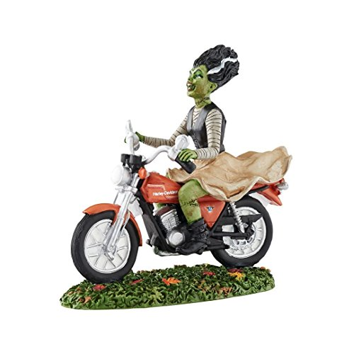 Department 56 Halloween Village Ride Away Bride on Harley Motorcycle 4051020 New]()