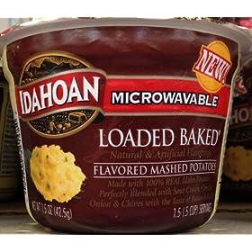 Idahoan Microwavable LOADED BAKED MASHED POTATOES 1.5oz – 4 Pack