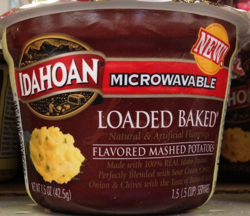Idahoan Microwavable LOADED BAKED MASHED POTATOES 1.5oz - 4 Pack
