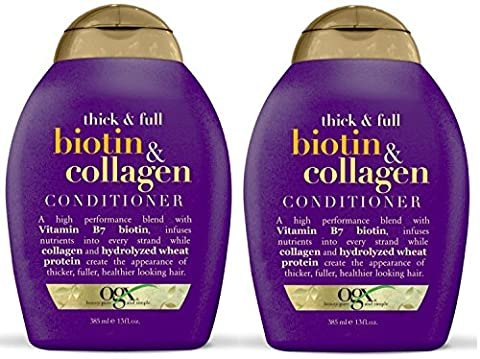 Organix Thick and Full Biotin and Collagen, DUO Set Shampoo + Conditioner, 13 Ounce, 1 Each by OGX (Thick And Fuller Conditioner)