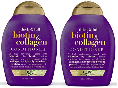 Organix Thick and Full Biotin and Collagen, DUO Set Shampoo + Conditioner, 13 Ounce, 1 Each by OGX