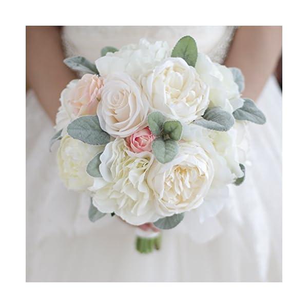 IFFO Bridal bouquet, wedding bridal bouquet, fresh fresh, forest style bouquet, peony bouquet, artificial flowers