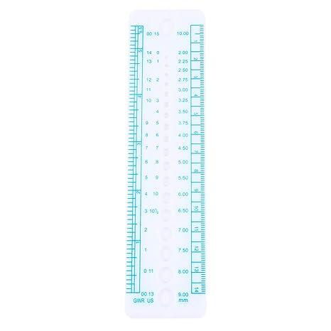Knitting Needle Gauge and Ruler-UK STOCK-durable plastic