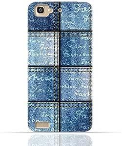 Huawei GR3 TPU Silicone Case with Denim Fabric Seamless Design Design