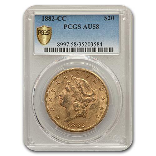 1882 CC $20 Liberty Gold Double Eagle AU-58 PCGS G$20 AU-58 PCGS