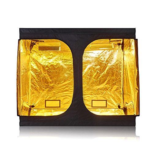 TopoGrow D-Door 96'x48'X80' Indoor Grow Tent Room 600D Mylar High Reflective Non Toxic Hut 8'x4'