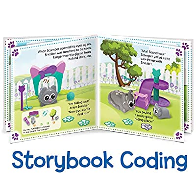 Learning Resources Coding Critters Scamper & Sneaker, Toy of the Year Award Winner, Homeschool, Interactive STEM Coding Toy, Early Coding Toy for Kids, 22 Piece Set, Ages 4+: Toys & Games
