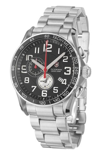 Victorinox Swiss Army Men's 241280 Classic XLS Alarm Chronograph Black Dial (Swiss Quartz Alarm)