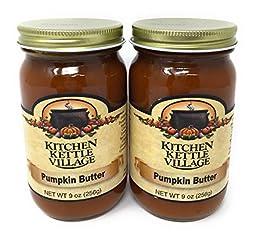 Pumpkin Butter, Kitchen Kettle Village (Amish Made), 9 Oz. Jars (Pack of 2)
