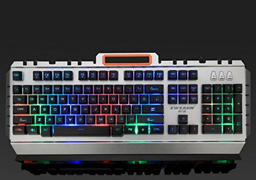 51Pz0Gb0ZOL - Summer-Live-LED-Wired-Gaming-Keyboard-Mechanical-Feeling-USB-Keyboard-with-Backlight-Rainbow-RGB-Multicolor-Water-Resistant-AdjustableIlluminated-Computer-Keyboard-for-PC-Games-Office