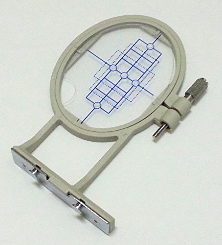 ThreadNanny 2-inch x 1 1/2 inch Small Embroidery Hoop w/ Placement Grid (SA431) for Brother SE270D, SE-350, SE-400, PE-500 HE-120, HE-240, Innovis 500D, Innovis 900D, Innovis 950D, LB6770PRW, LB6800PRW, Babylock Sofia A-Line and Babylock Intrigue