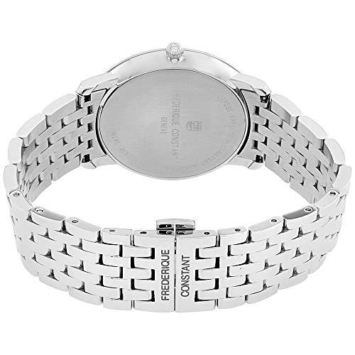 FREDERIQUE CONSTANT mäns sliMLINE 38,4 mm metall armband kvarts klocka 220S5S6B