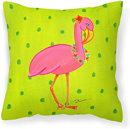 Caroline s Treasures LD6153PW1414 Bird Flamingo Decorative Canvas Fabric Pillow, Large, Multicolor