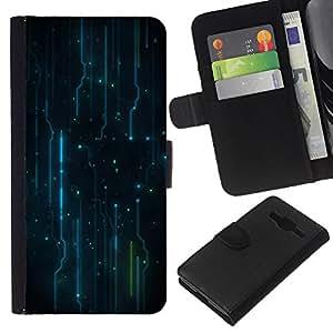Stuss Case / Funda Carcasa PU de Cuero - Patrón Electrónica Electro - Samsung Galaxy Core Prime