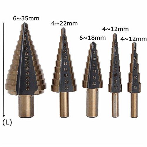 Cefeph Professional Step Drill CFH56897/HSS Sch/älbohrersatz for Stainless Steel Metal Wood Plastic Etc.