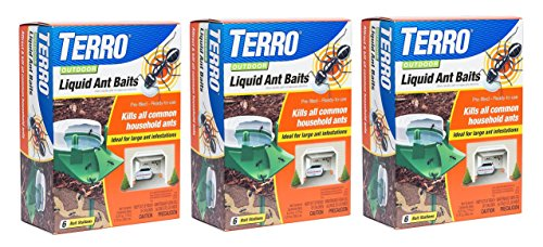 Terro 1806 Outdoor Liquid Ant Baits, 1.0 fl. oz. - (3 Pack)