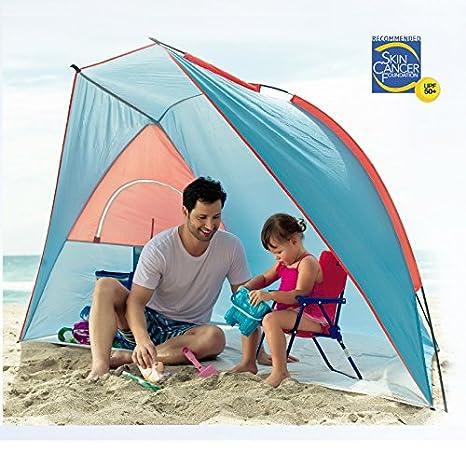 Portable Beach Cabana Tent Sun Shelter 50 SPF w/ carry bag  sc 1 st  Amazon.com & Amazon.com: Portable Beach Cabana Tent Sun Shelter 50 SPF w/ carry ...