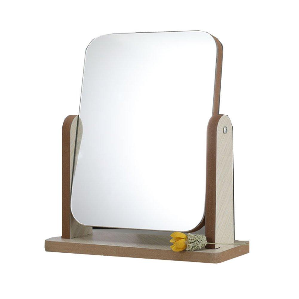 Makeup Vanity Mirror Claridad de alta definición Lado simple de rotación de 360 °: Amazon.es: Belleza