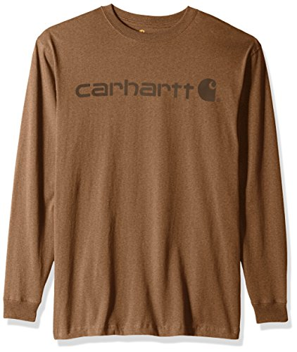 Carhartt Mens Signature Logo Long Sleeve T-Shirt