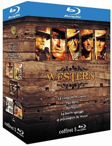 Coffret Western - La conquête de l'Ouest + Pale Rider + Rio Bravo + La horde sauvage + La prisonnière du désert [Blu-ray]