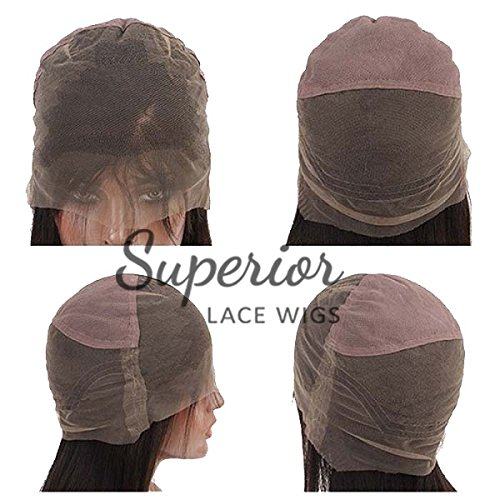 100%10A HUMAN HAIR CHINESE VIRGIN REMI FULL LACE WIG LADY WIG BLOND COLOR (12inch) by Superiorlacewigs (Image #4)