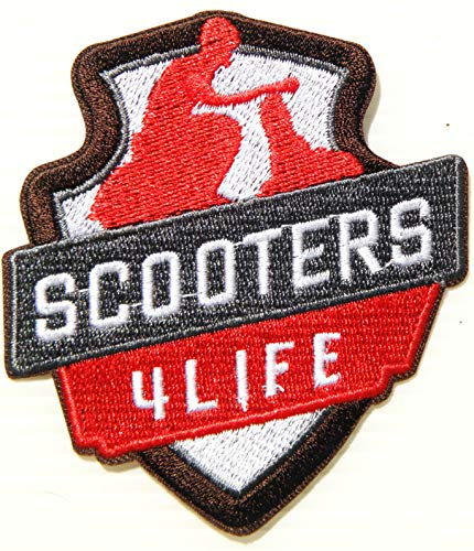 AUTOMOTIVE BY PACTH CAFE Vespa Rider Mod Scooter Motorcycles Biker MOD Patch Iron on Sewing Embroidered Applique Logo Badge Sign Embelm Craft Gift