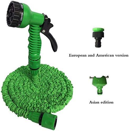 none_branded Erweiterbarer Magic Flexible Garden Wasserschlauch für Autoschlauch Rohr Kunststoffschläuche zum Bewässern mit Spray Teleskop Wasserpistole-100ft_Green