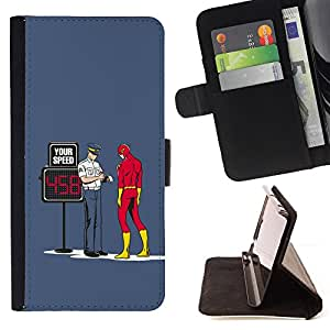 /Skull Market/ - FUNNY - FLASH SUPERHERO & COP For HTC One M8 - Caja de la carpeta del tir???¡¯???€????€?????????&Atild