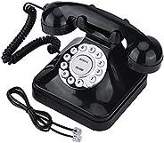 Teléfono fijo retro, teléfono fijo, teléfono fijo retro con cable, teléfono clásico retro vintage, con rellama