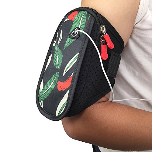"Original Sevens Costume Ideas (Ybester Breathable Sports Running Armbands Cell Phone Pouch| Holder Multifunctional Pockets Armband for jogging running iphone 7 plus 6s Plus 6 Plus 3.5""- 5.8"" (Green Leaves))"