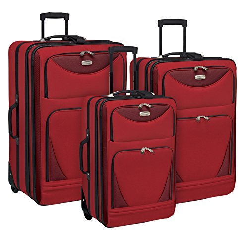 Sky View Collection- 3pc EVA Expandable 3 pc set in (Eva Expandable Luggage Set)