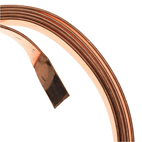 Artistic Wire 21-Gauge Flat 5mm by .75mm, 3-Feet, Bare Copper