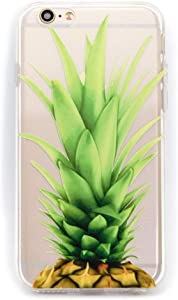 iPhone 8/iPhone 7/iPhone SE(2020) Case Girls Women,Pineapple Fruits Hat Pug Pet Dog Funny Upper Pineapple Bahama Leaves Cute Summer Hipster Hawaii Clear Soft Case Compatible for iPhone 8/iPhone 7/SE