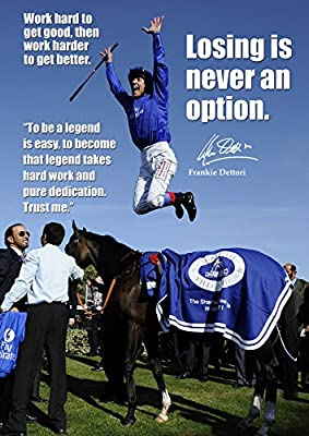 Frankie Dettori Horse Racing Legend Poster second