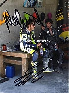 LIMITED EDITION VALENTINO ROSSI GUY MARTIN SIGNED PHOTO + CERT MOTO GP 46… ceeee53b745e