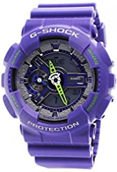 Casio G-Shock Men's Analog-Digital Purple Resin Strap Watch
