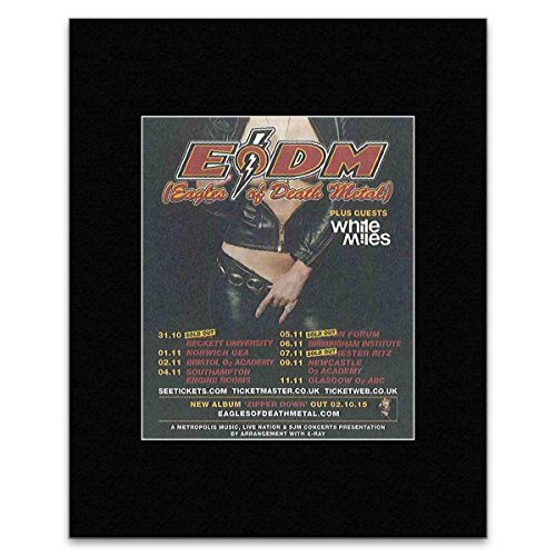 NME EAGLES OF DEATH METAL - November 2015 UK Tour Mini Poster - 13.5x10cm
