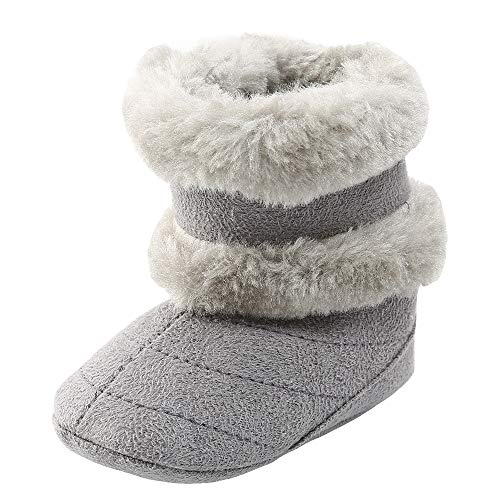 Newport Toddler Crib (Hot Crazy!Toddler Baby Kids Girls Boys Plush Winter Snow Anti-slip Bownot Boots Keep Warm Soft Sole Crib Prewalker Shoes (Age:6~12 Month, Gray))