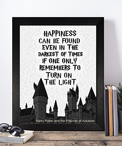 [Presents Gifts For Teens Kids Boys Girls Harry Potter Lovers Fans Birthday Christmas Xmas Vintage Happiness Can Be Found Even In Darkest Of Times Framed Prints Posters Home Decorations] (Dumbledore Costume Ideas)