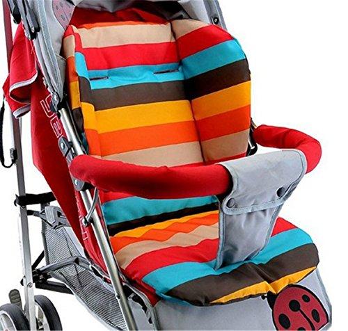 BININBOX Baby Stroller Cushion Pad Pram Padding Car Seat Mat Double Side (Orange)