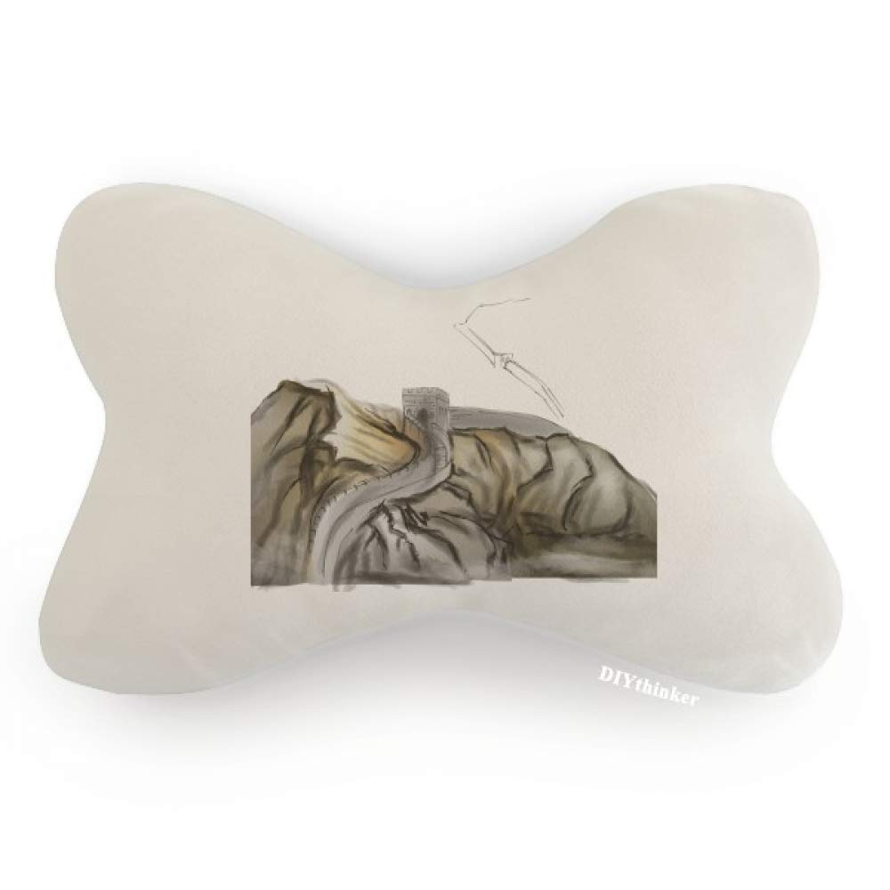 DIYthinker China Chinese The Great Wall Pattern Car Neck Pillow Headrest Support Cushion Pad