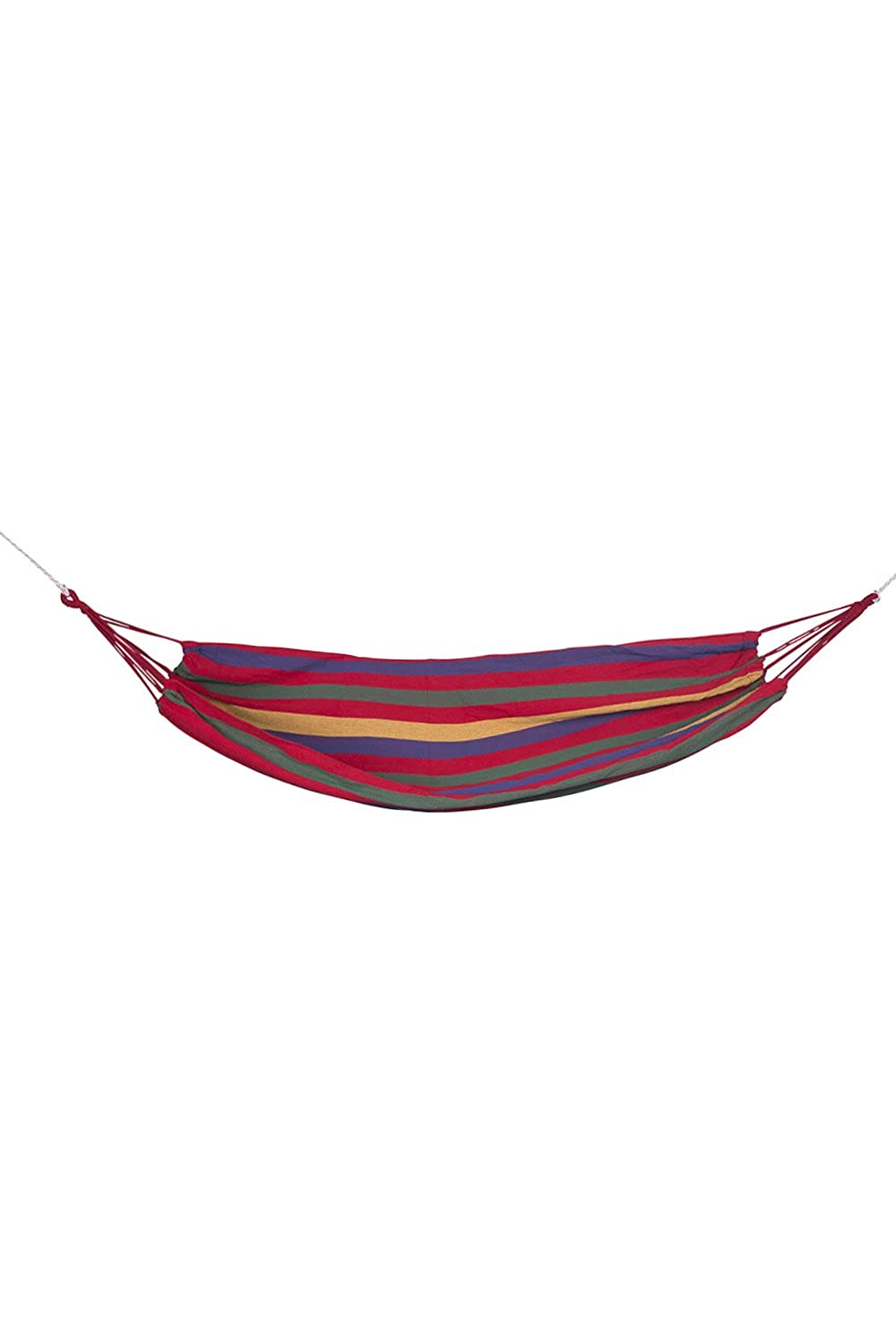 Mountain Warehouse Hammock - Colourful Stripes Outdoor Hammock, Durable Straps Hammock Tent, Easy Use Hanging Chair -For Garden, Summer Camping, Travel & Indoor