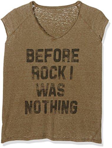 THE HIP TEE Bianca, Camiseta para Mujer Army