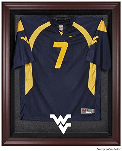 NCAA - West Virginia Mountaineers Framed Logo Jersey Display Case by Sports Memorabilia