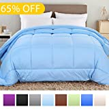Balichun Hotel Collection 1800 Series - All Season Luxury Duvet Insert Goose Down Alternative Quilted Comforter with Corner Tabs - Hypoallergenic, King/Cal King, Baby Blue