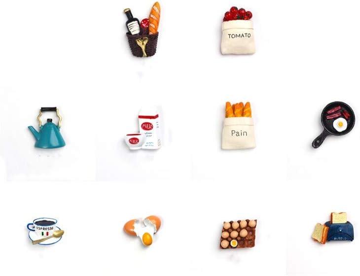 UUME 3D Simulation Food Refrigerator Magnetic Stickers Photo Magnetic Sticker Food Fridge Magnet Cute Food Shaped Refrigerator Stickers(10)
