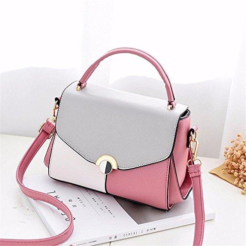 MSZYZ Regalos de Vacaciones Personalidad Dama Moda Bolso con un Bolso Azul Pink