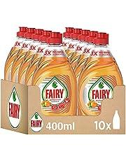 FAIRY Ultra Power handvaatwasser, 4 liter (10 x 400 ml), schoon en fris, geur oranje, Mega Pack