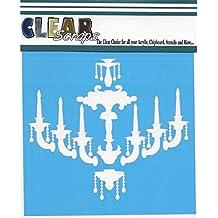 """Clear Scraps Stencils 12""""X12""""-Chandelier"""
