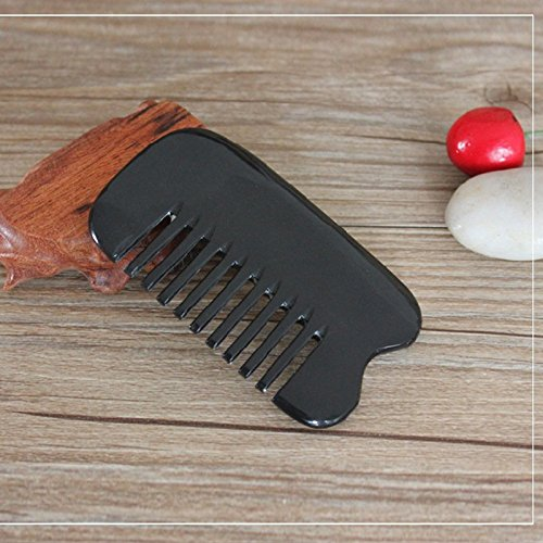 ACE Scraping Plates Traditional Acupuncture Massage Body Tool Board Ox Horn Comb Portable Hair Brush (Ace Plates)